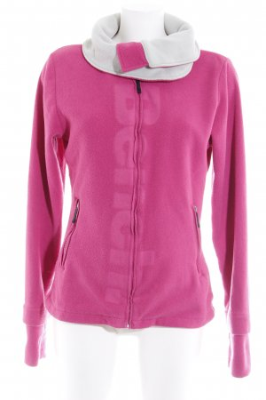 Bench Fleecejacke pink-hellgrau Casual-Look