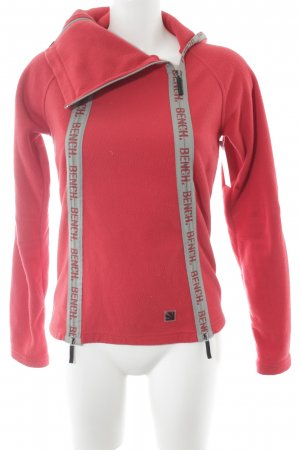 Bench Fleecejacke rot-grau Logoprint