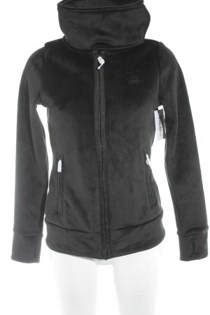 Bench Fleece Jackets black casual look