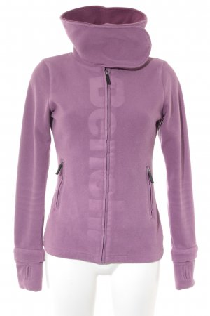 Bench Fleece Jackets violet printed lettering casual look