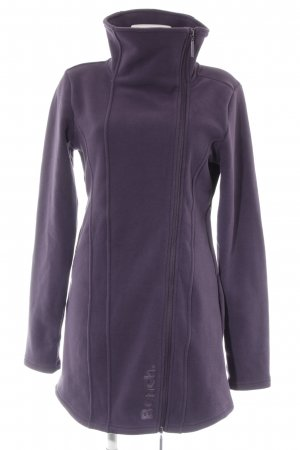 Bench Cappotto in pile viola scuro stile casual