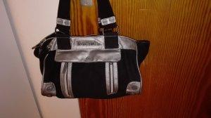 bench handtasche schwarz / Silber