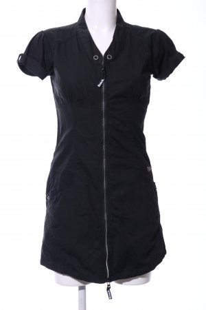 Bench Shirtwaist dress black embroidered lettering casual look