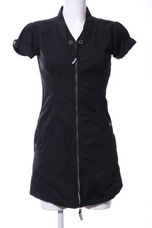 Bench Vestido tipo blusón negro letras bordadas look casual