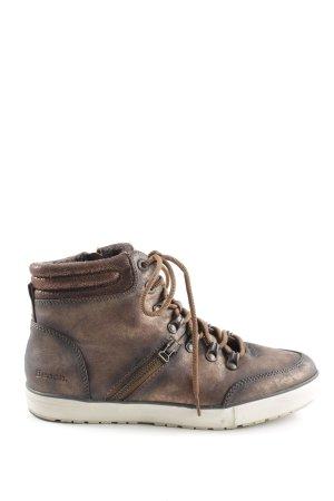 Bench High Top Sneaker bronzefarben-weiß Farbverlauf Casual-Look