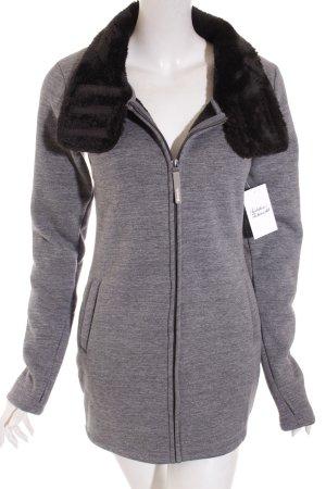Bench Jacke grau-schwarz Kuschel-Optik