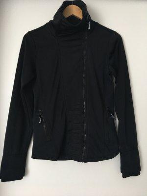 Bench-Jacke in schwarz mit seitlichem Reißverschluss