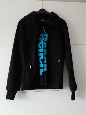 BENCH Jacke schwarz+hellblauer Aufdruck