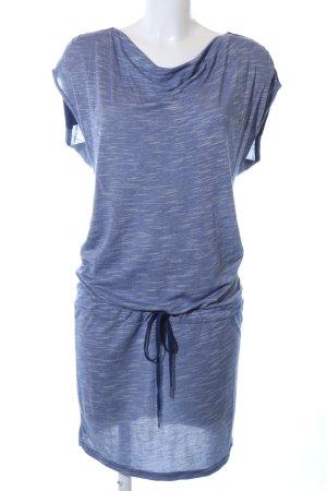 Bench Jerseykleid blau meliert Casual-Look