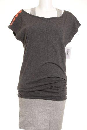 Bench Jerseykleid dunkelgrau-hellgrau meliert Skater-Look