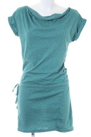 Bench Jerseykleid kadettblau-wollweiß Casual-Look