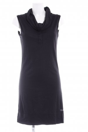 Bench Jerseykleid schwarz Schriftzug gedruckt Casual-Look