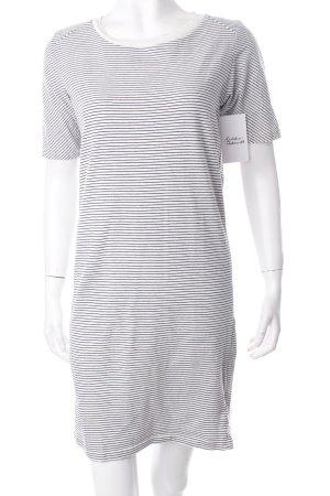 Bench Jerseykleid weiß-schwarz Streifenmuster Casual-Look