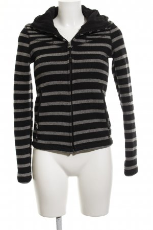 Bench Hoody grey-black striped pattern casual look