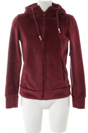 "Bench Jack met capuchon ""Her. Fleece Zip Through Hoodie "" karmijn"