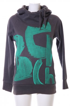 Bench Hooded Sweater light grey-turquoise casual look