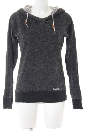 Bench Hooded Sweater dark grey flecked casual look