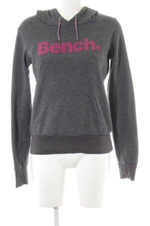 Bench Jersey con capucha gris-violeta letras impresas look casual