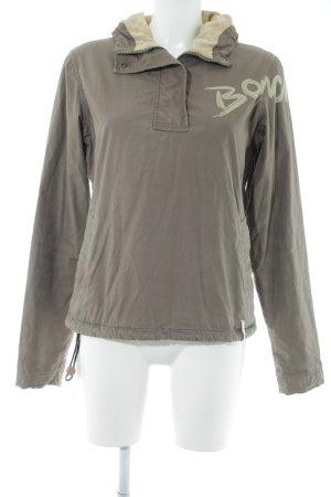 Bench Maglione con cappuccio marrone-grigio stile casual