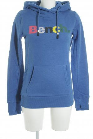 Bench Hooded Shirt blue printed lettering casual look