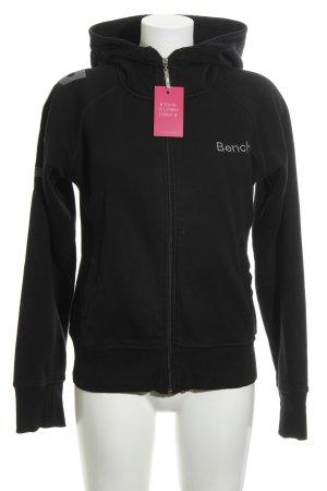 Bench Sweatshirt met capuchon zwart casual uitstraling