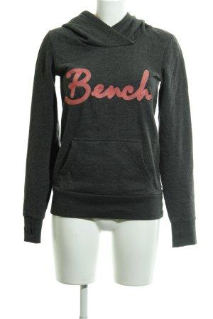 Bench Sudadera con capucha gris oscuro-albaricoque estilo deportivo