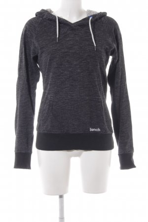Bench Kapuzensweatshirt dunkelgrau meliert Casual-Look
