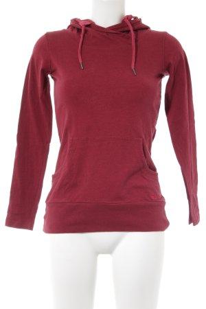 Bench Kapuzensweatshirt dunkelrot schlichter Stil