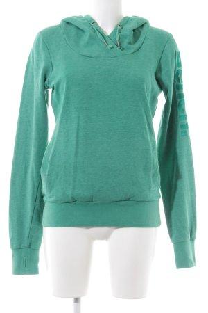 Bench Sweatshirt met capuchon groen geborduurde letters atletische stijl