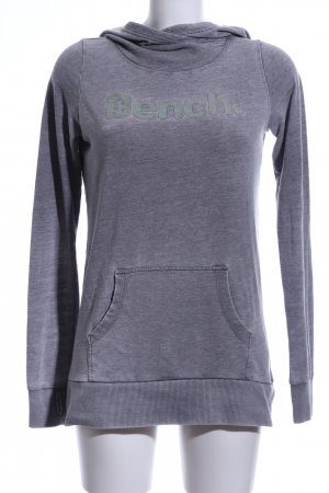Bench Hooded Sweatshirt light grey flecked casual look