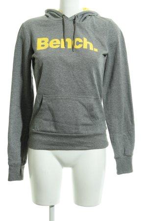 Bench Sudadera con capucha gris-amarillo estilo deportivo