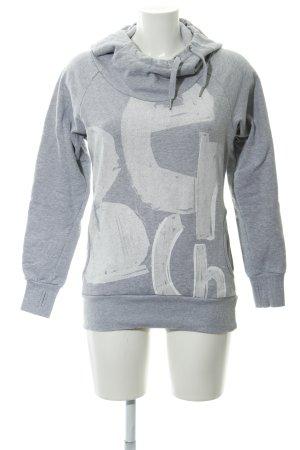 Bench Kapuzensweatshirt hellgrau-weiß grafisches Muster Casual-Look