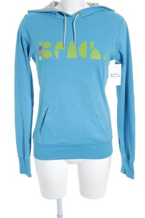 Bench Sweatshirt met capuchon korenblauw-weidegroen atletische stijl