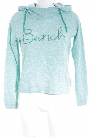 Bench Kapuzensweatshirt weiß-mint meliert Casual-Look