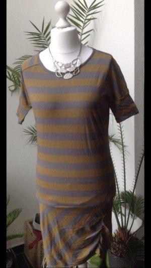Bench T-shirt jurk grijs-oker