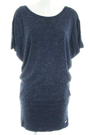 Bench Kurzarmkleid dunkelblau-creme meliert Casual-Look