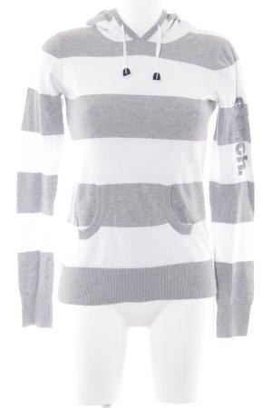 Bench Jersey de manga corta gris claro-blanco estampado a rayas look casual