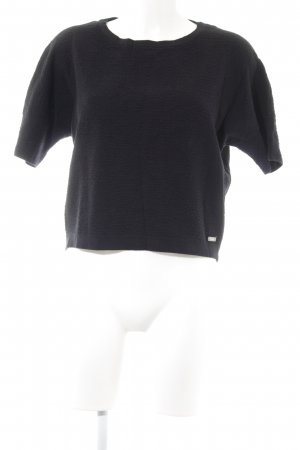 Bench Short Sleeve Sweater black casual look