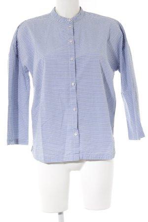 Bench Shirt met lange mouwen leigrijs-wit gestreept patroon casual uitstraling