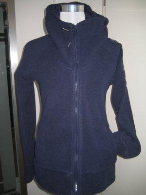 Bench Long Fleece Jacke mit Kragen &Kaputze dunkelblau Gr,M