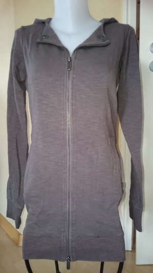 Bench Long Sweatshirtjacke Gr L Grau