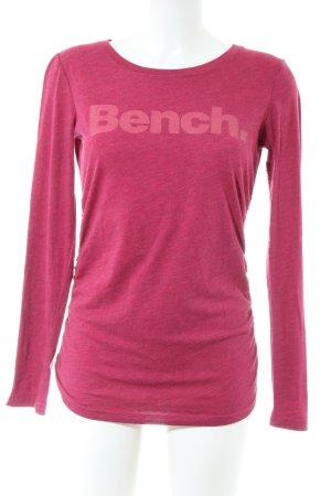 Bench Longsleeve pink meliert Casual-Look