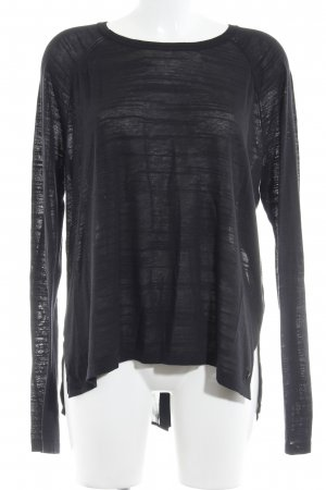 Bench Longsleeve schwarz Materialmix-Look