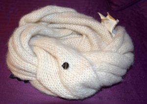 Bench Loop-Schal/ Rundschal aus Acrylwolle weiß/creme