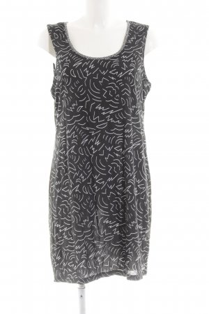 Bench Minikleid schwarz-weiß abstraktes Muster Casual-Look
