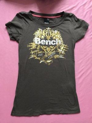 Bench oberteil t-shirt shirt größe xs 34 oliv