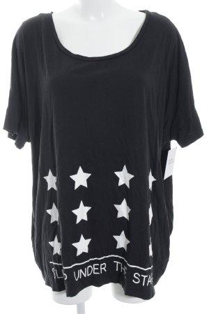 Bench Oversized shirt zwart-wit casual uitstraling