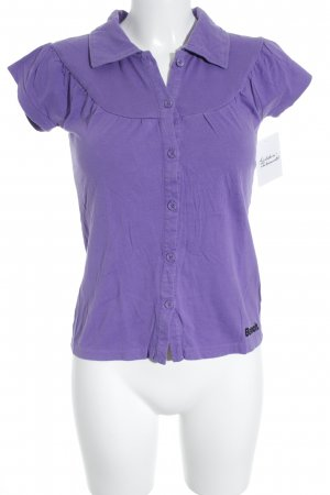 Bench Polo-Shirt lila Casual-Look