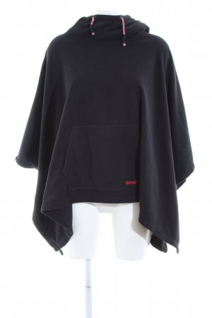 Bench Poncho negro look casual