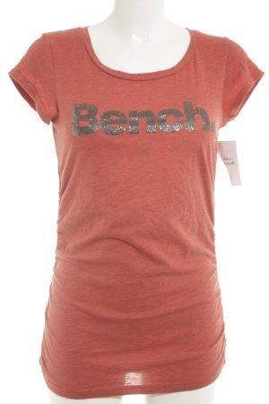 Bench Print-Shirt Schriftzug gedruckt Casual-Look